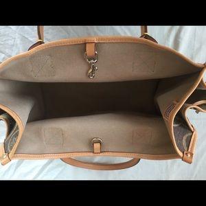 Dooney & Bourke Bags - Dooney & Bourke Canvas Heart Handbag, Leather Trim